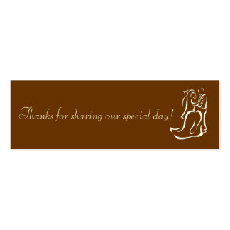 Bride&Groom Chocolate Favor Tag Double-Sided Mini Business Cards (Pack Of 20)