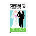 Bride & Groom - Custom Wedding Postage