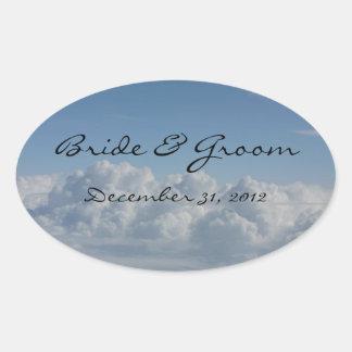 Bride & Groom Customizable Cloud Sticker