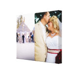 Bride & Groom customized add photo Wrapped Canvas Canvas Print