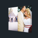 "Bride &amp; Groom customized add photo Wrapped Canvas<br><div class=""desc"">Add Wedding photo or other everyday photos Wrapped Canvas Art...  A beautiful bride and groom...  A day to remember YOUR WEDDING DAY!!!</div>"