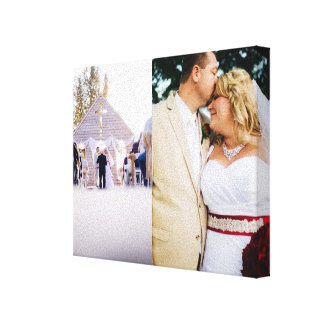Bride & Groom customized add photo Wrapped Canvas