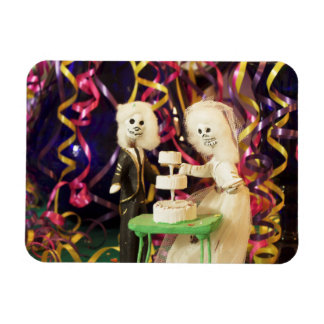Bride_Groom Day of the Dead Wedding Magnet