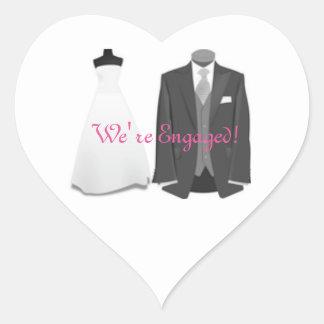 Bride & Groom Engagement Sticker