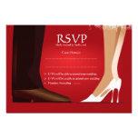 Bride & Groom First Dance Modern RSVP Wedding Card