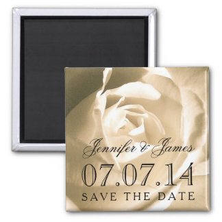 Bride Groom Floral Save the Date Magnets