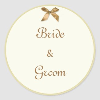 Bride & Groom Gift Tag style Stickers sticker