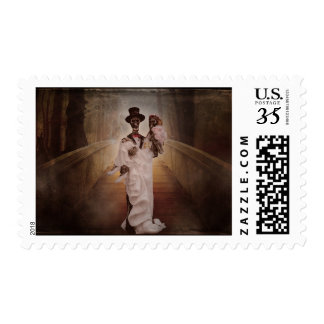 Bride & Groom Gothic Day of the Dead Wedding Stamp