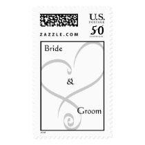 Bride &  Groom Heart Postage