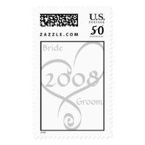 Bride & Groom Heart Postage Stamp 2008
