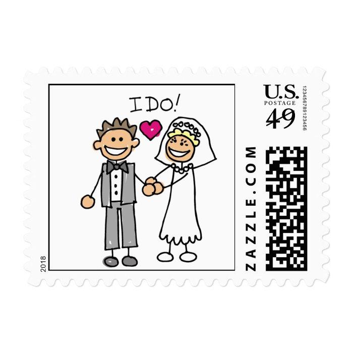 Bride Groom I Do Wedding Invitation RSVP Save Date Postage Stamp