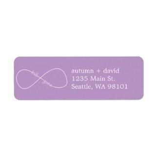 Bride & Groom Infinity Modern Address Labels
