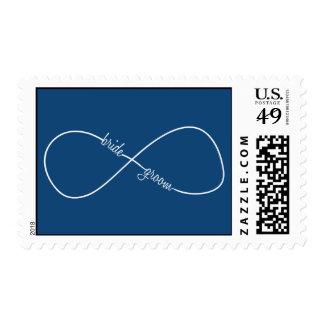 Bride & Groom Infinity Modern Postage Stamp