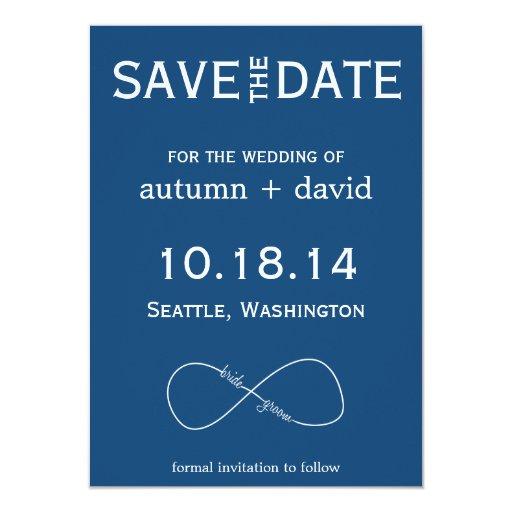 groom infinity modern save the date card zazzle