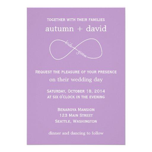Bride & Groom Infinity Modern Wedding Invitation | Zazzle