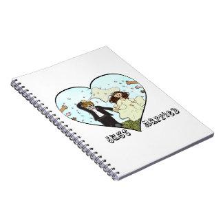 Bride & Groom Just Married Note Book
