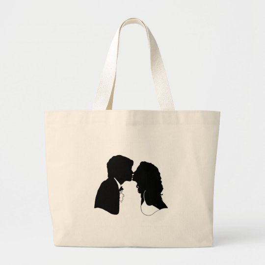 Bride & Groom Large Tote Bag