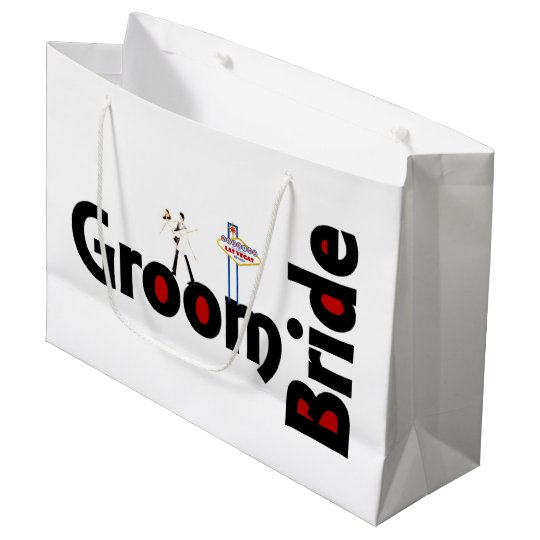 Las Vegas Wedding Gifts: Bride & Groom Las Vegas Wedding Gift Bag