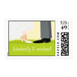 Bride & Groom Legs Stamps