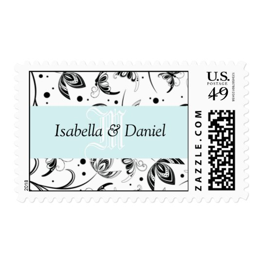 Bride Groom Names Personalizable Wedding Monograms Postage