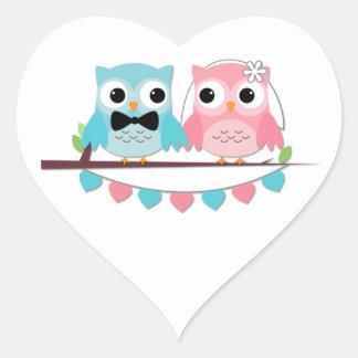 Bride, Groom Owl Sticker