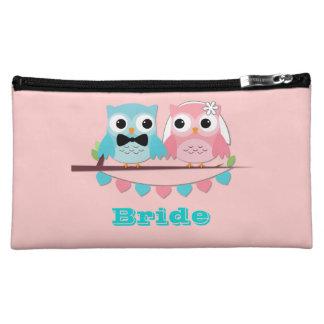 Bride, Groom Owls Makeup Bag