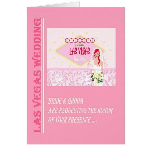 Bride & Groom Requesting your presence Las Vegas W Card
