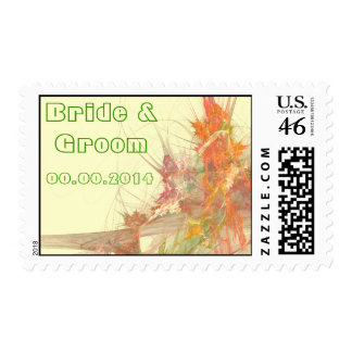 Bride Groom RSVP Event And Wedding Postage Stamp
