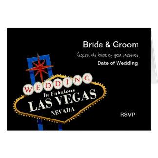 Bride & Groom RSVP Wedding in Las Vegas Card