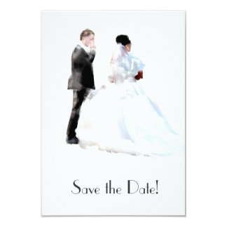 Bride & Groom Save the Date Card