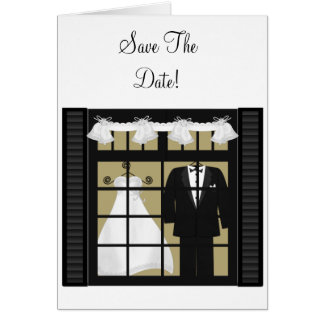 Bride & Groom -Save The Date Card