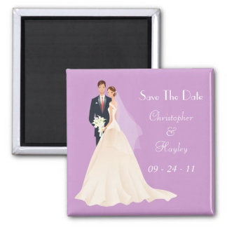 Bride & Groom Save The Date Refrigerator Magnets