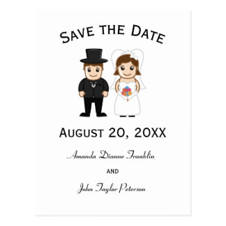 Bride & Groom - Save the Date Post Card