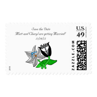 Bride Groom Save the Date Postage Customize