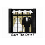 Bride & Groom -Save The Date Postcards