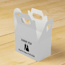Bride & Groom Silhouette Favor Favor Box