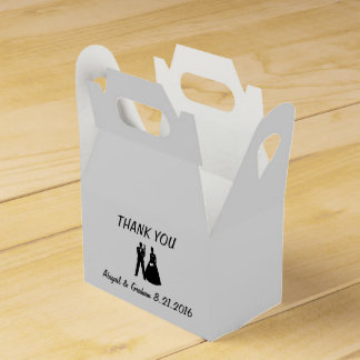 Bride & Groom Silhouette Favor Favor Box
