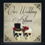 """Bride &amp; Groom Skull Wedding Photo Album 3 Ring Binder<br><div class=""""desc"""">This is a very unique and fun wedding theme for those who love goth and skulls.</div>"""