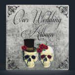 """Bride &amp; Groom Skull Wedding Photo Album Binder<br><div class=""""desc"""">This is a very unique and fun wedding theme for those who love goth and skulls.</div>"""