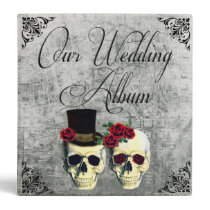 Bride & Groom Skull Wedding Photo Album Binder