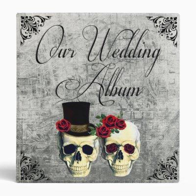 Bride & Groom Skull Wedding Photo Album Binder
