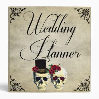Bride & Groom Skull Wedding Planner Binder