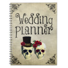 Bride & Groom Skull Wedding Planner Notebook