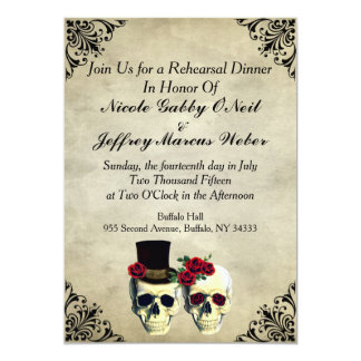 Bride And Groom Skulls Invitations Announcements Zazzle