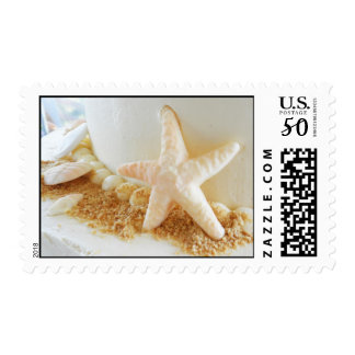 Bride Groom Starfish Beach Wedding Cake Stamp