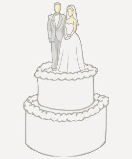 Bride & Groom Stationery Cake Raglan Tees