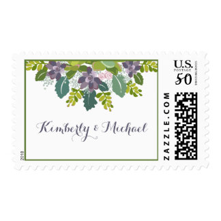 Bride & Groom Succulent Bouquet II Wedding Postage