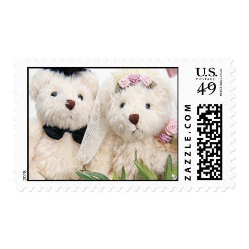 Bride & Groom TeddyBears Stamp
