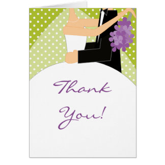 Bride & Groom Thank You Note Card