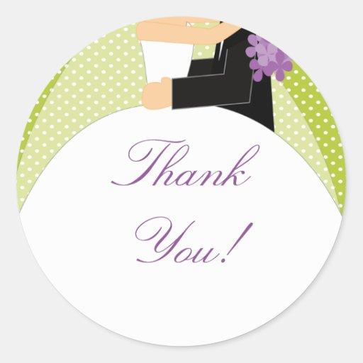 Bride & Groom Thank You Sticker